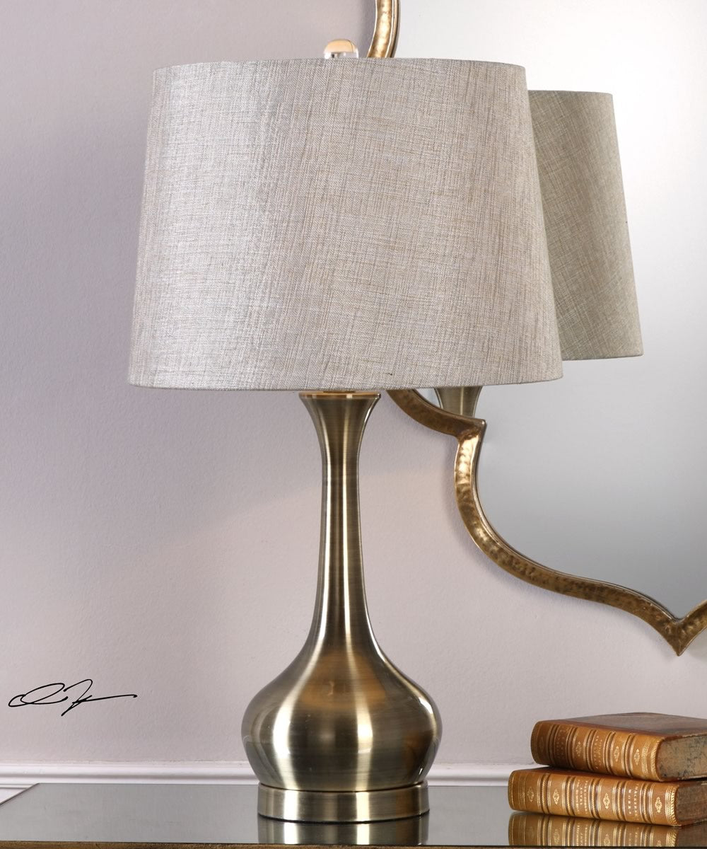 "25""H Balle Antiqued Brass Table Lamp"