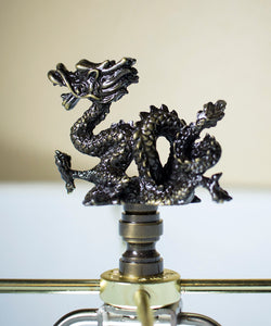 Oriental Dragon Finial Antique Metal