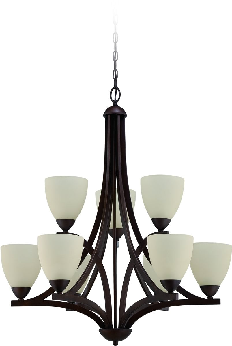 "30""W Almeda 9-Light Chandelier Old Bronze"