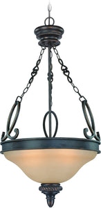 0-005415>Highland Place 3-Light Pendant Light Mocha Bronze