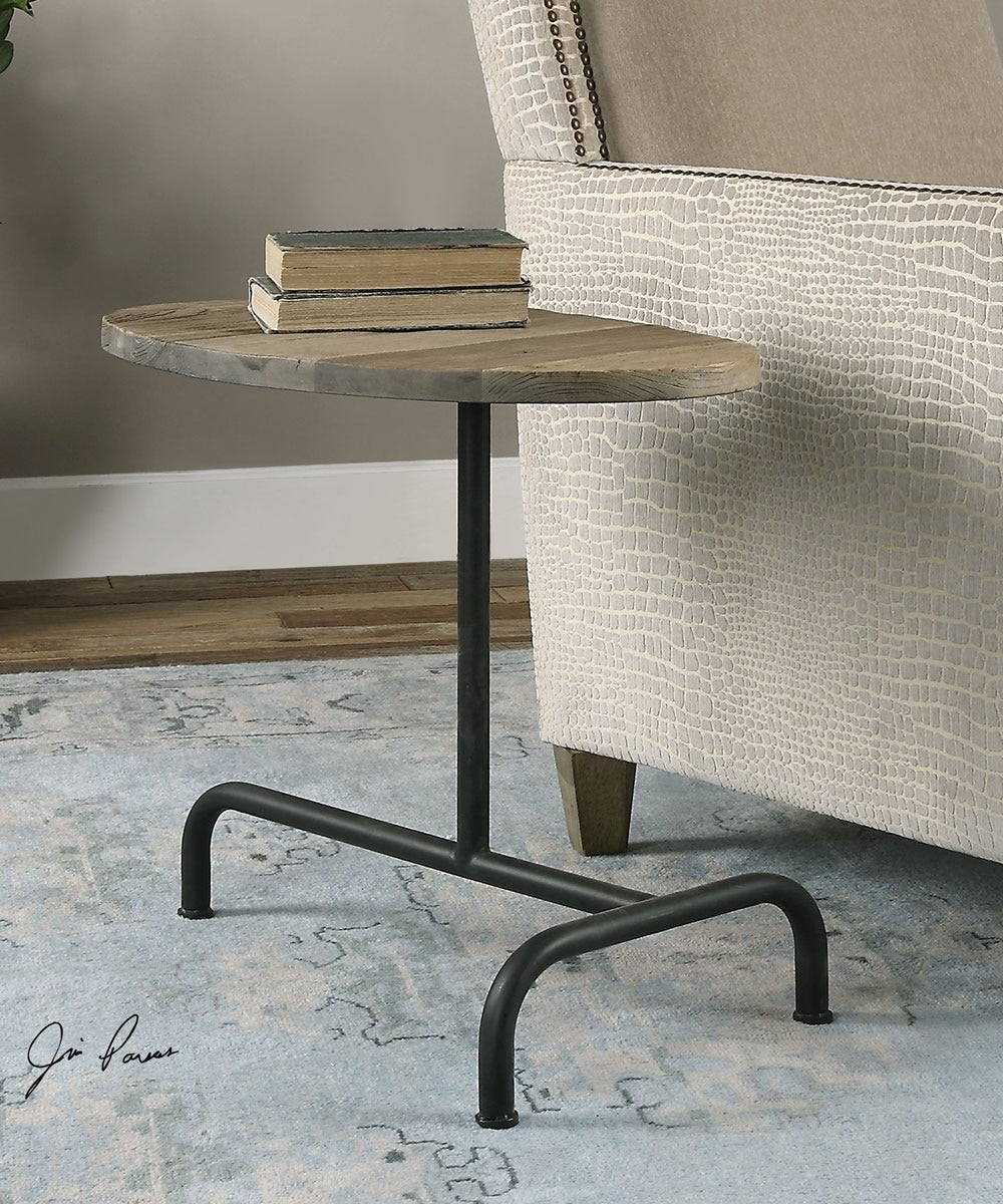 "21""H Martez Industrial Accent Table"