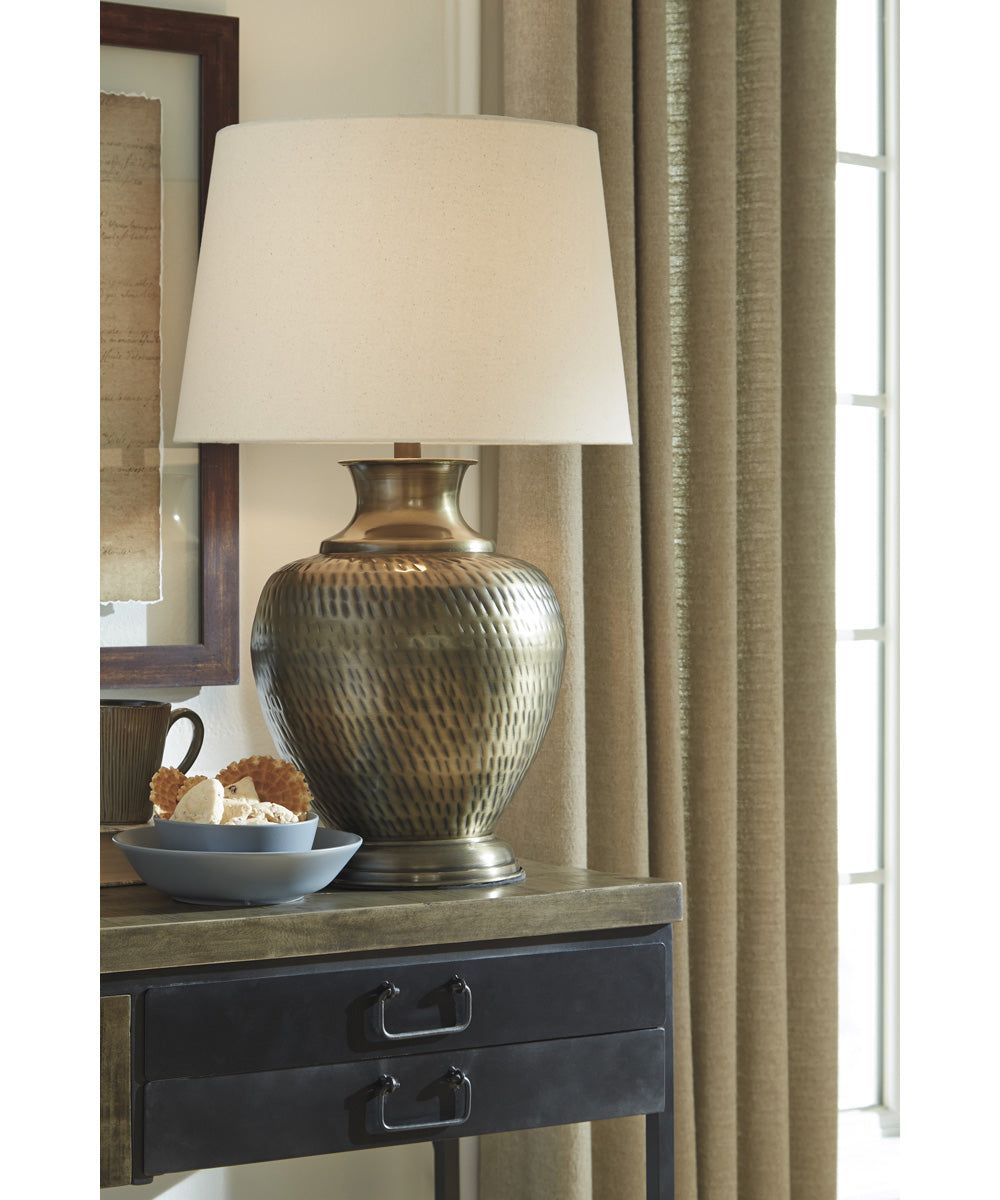 "27""H Eviana Metal Table Lamp (1/CN) Antique Brass"
