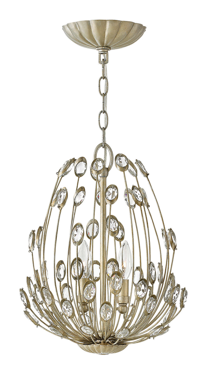 "12""W Tulah 2-Light Pendant in Silver Leaf*"