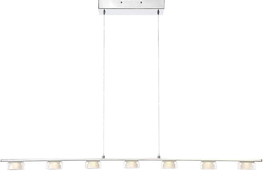 "45""W Brooklyn LED Pendant Chrome"