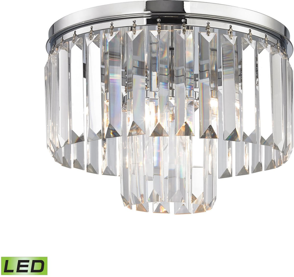 "12""W Palacial 1-Light LED Pendant Polished Chrome"