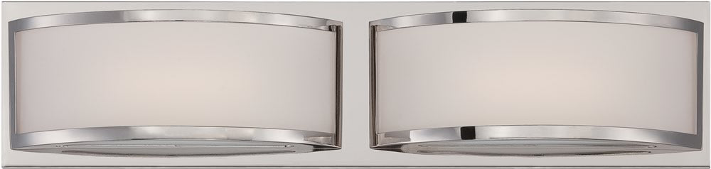 "21""W Mercer 2-Light Vanity & Wall Polished Nickel"