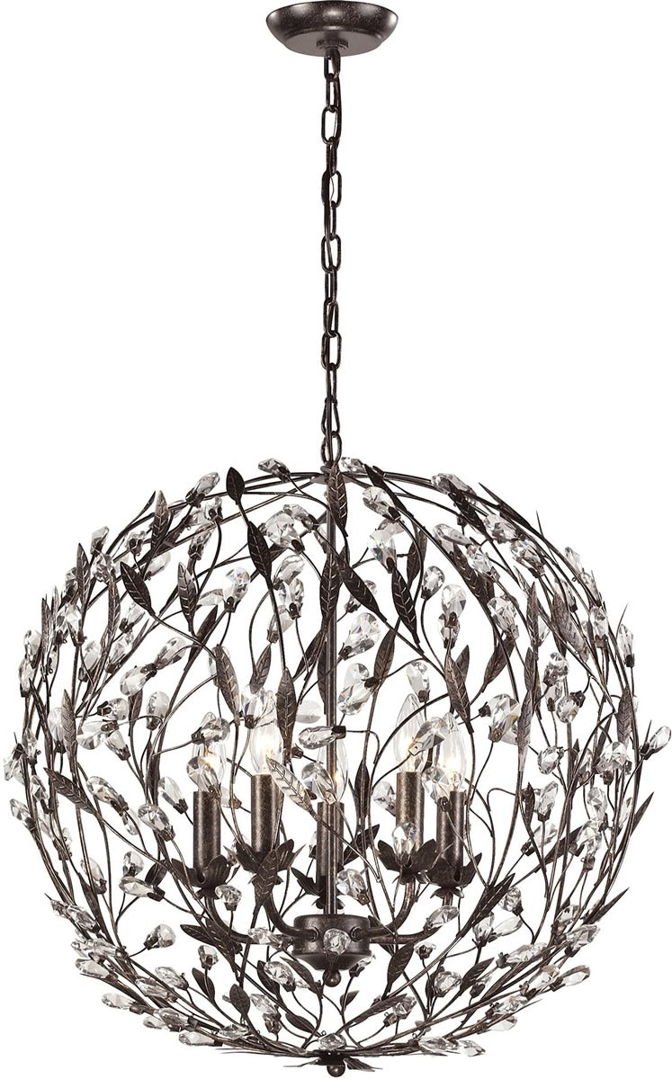 "24""W Circeo 5-Light Pendant Deep Rust"