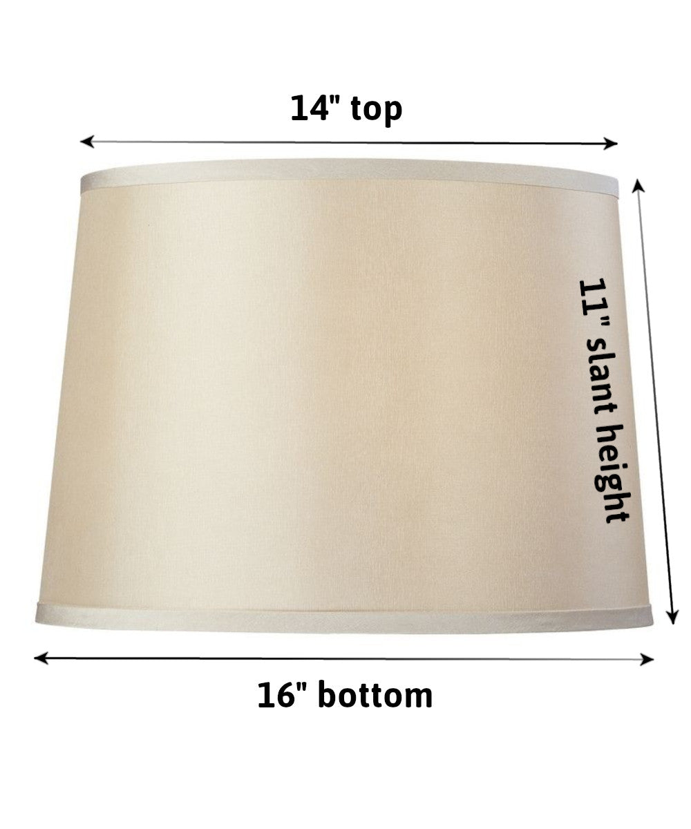 Modified Barrel Hard Back Lamp Shade 14x16x11.5 Beige Poly Dolan Designs