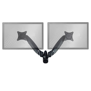 Sit-Stand Wall Mount Monitor Arm: Standard Dual Screen Black