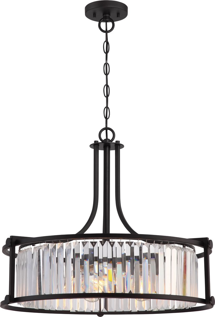 "25""W Krys 4-Light Pendant Aged Bronze"