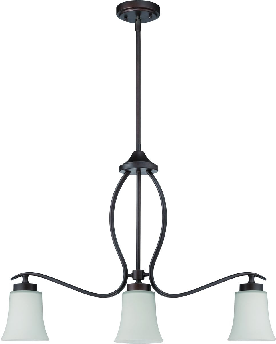 Northlake 3-Light Island Pendant Light Aged Bronze Brushed