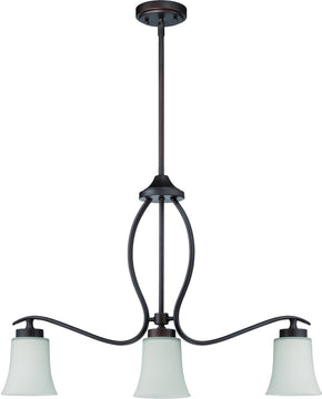"30""W Northlake 3-Light Island Pendant Light Aged Bronze Brushed"
