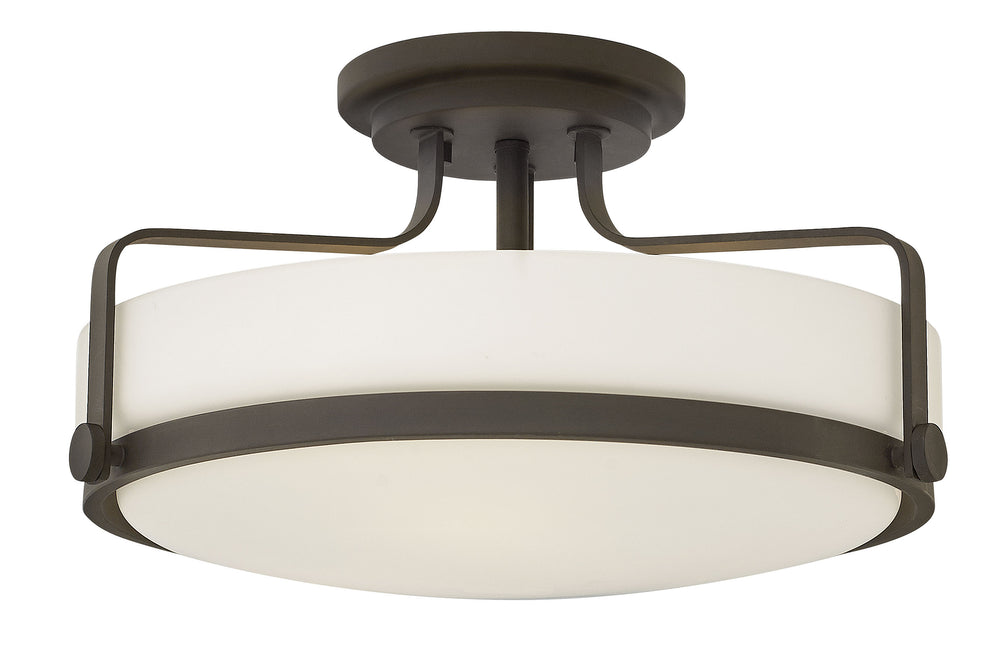 Harper 3-Light Semi Flush Mount in Oil Rubbed Bronze