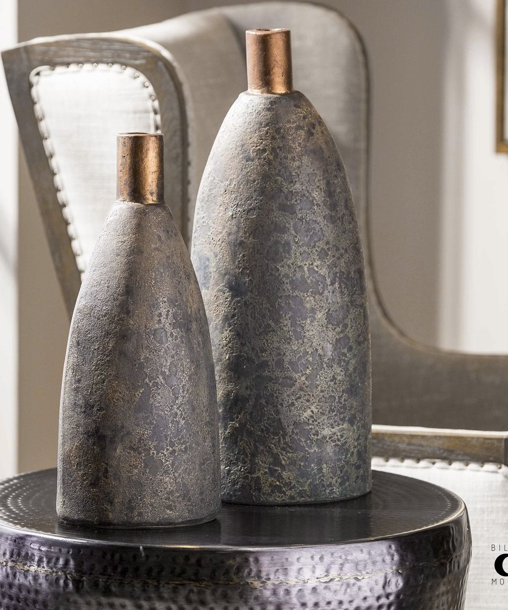 "20""H Kasen Charcoal Vases Set of 2"