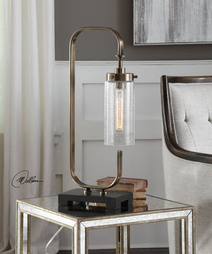 "26""H Keltie Seeded Glass Desk Lamp"