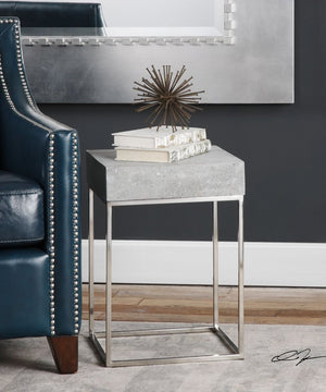 "20""H Jude Concrete Accent Table"