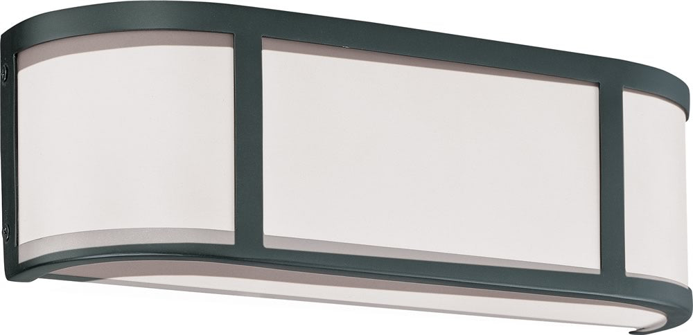 "16""W Odeon 2-Light Vanity & Wall Aged Bronze"