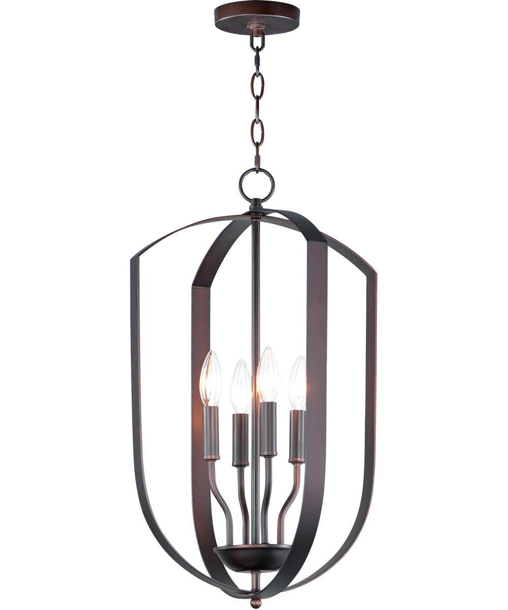 "15""W Provident 4-Light Chandelier Oil Rubbed Bronze"
