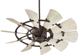 "44""W Windmill Ceiling Fan Oiled Bronze"