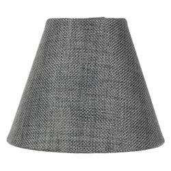 "5""W  x 4""H Granite Gray Burlap Lamp Shade - Clip-on Candelabra Shade"