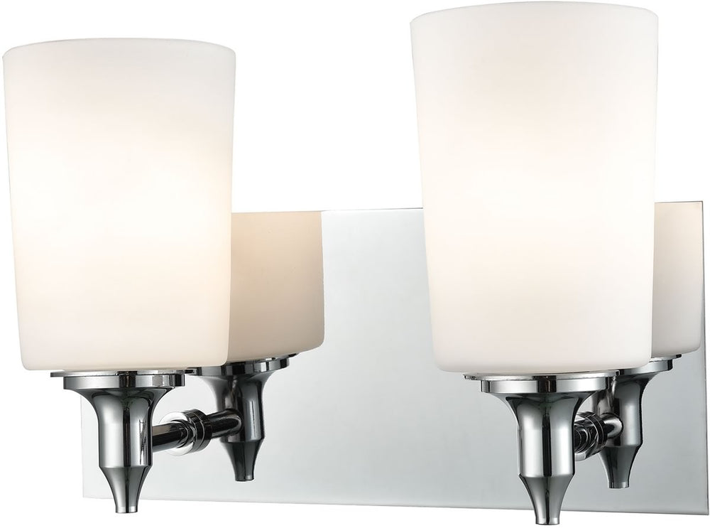 "11""W Alton Road 2-Light Vanity Chrome/Opal Glass"