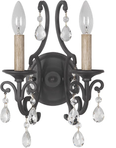 Bentley 2-Light Wall Sconce Matte Black