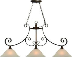 0-001339>Seville 3-Light Island Pendant Light Spanish Bronze
