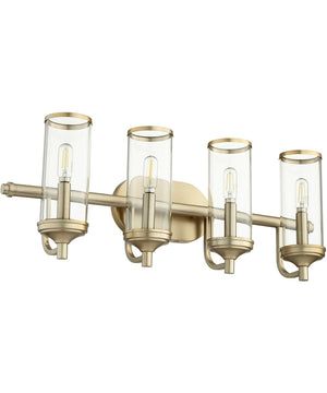 "26""W Collins 4-light Bath Vanity Light Aged Brass"
