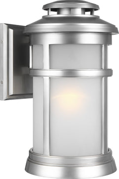 "16""H Newport 1-Light Wall Lantern Painted Brushed Steel"