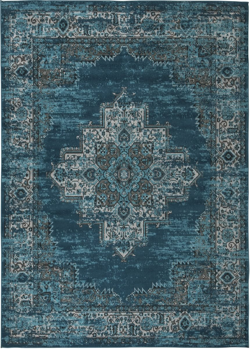 Moore Medium Rug Blue/Teal 5x7
