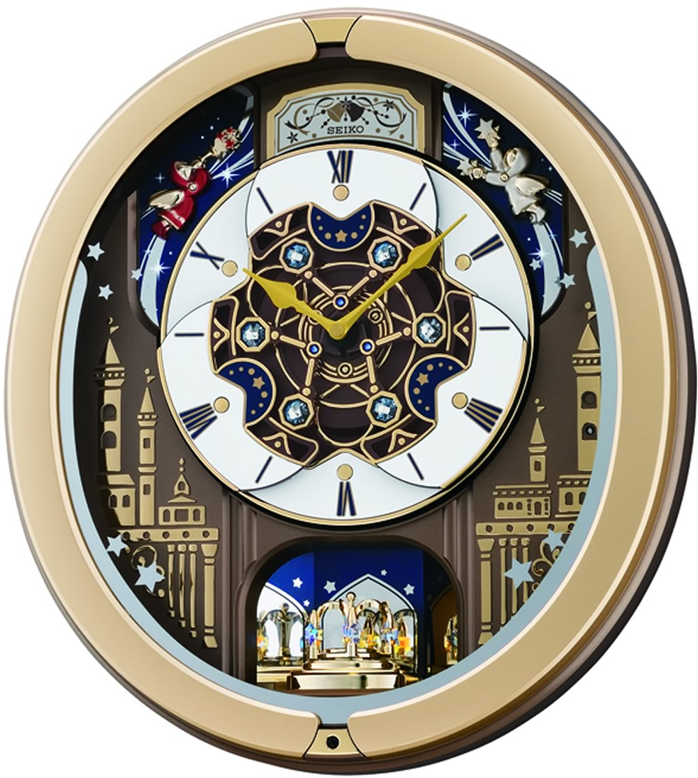 Melodies in Motion Clock , 18 Hi Fi Melodies, Rotating Pendulum