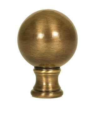 "2""H Sphere Finial Antique Brass"