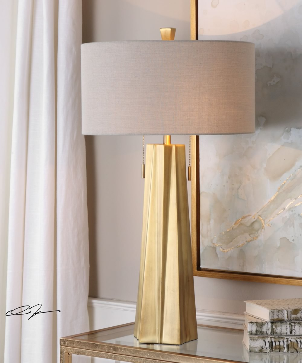 "31""H Maris Gold Table Lamp"