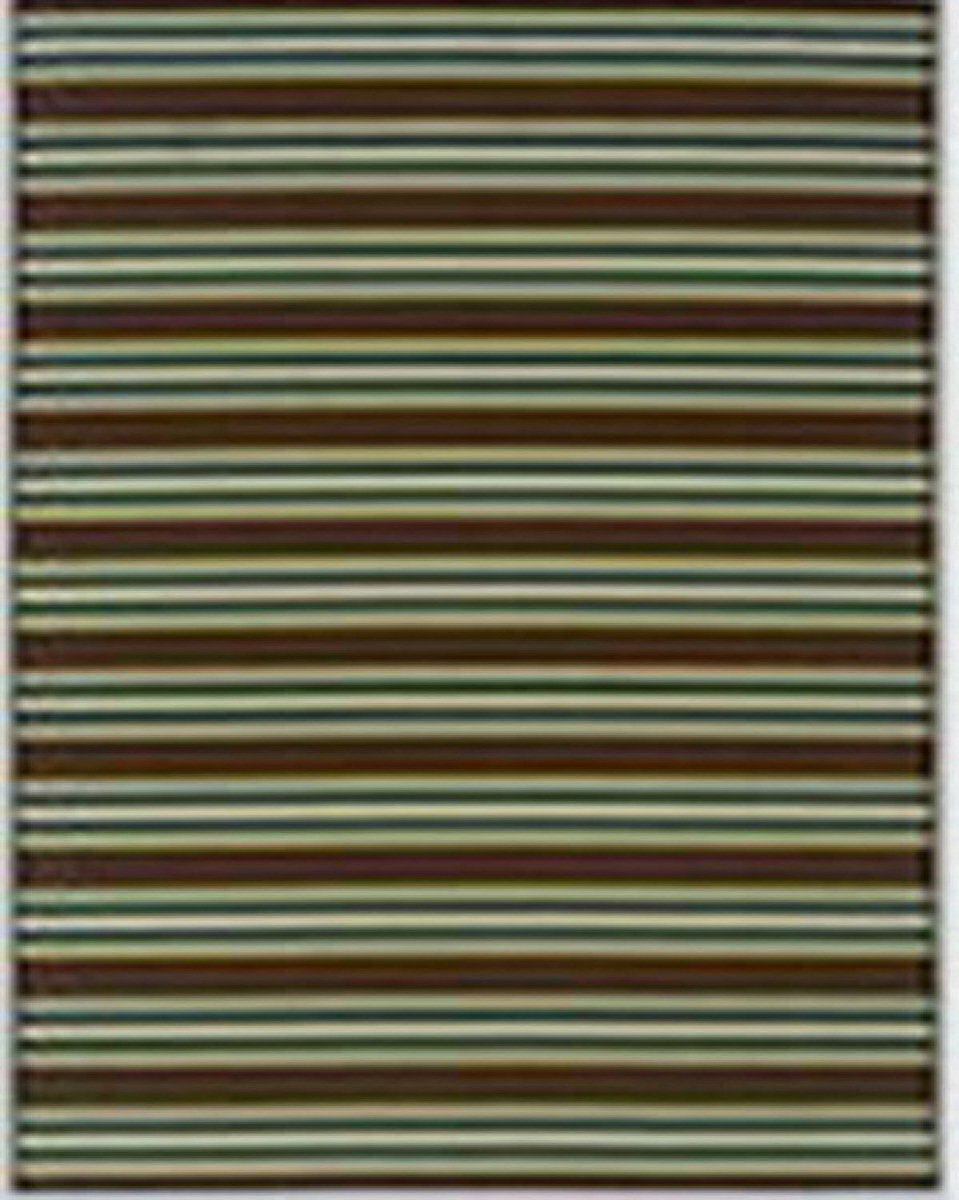 "63""W x 90""D Matchy Lane Medium Rug Brown/Blue/Green"