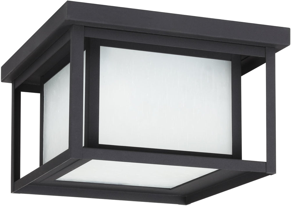 Hunnington 2-Light Outdoor Flush Mount Black