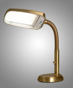 BlueMax 70w Dimmable Full Spectrum Desk & Therapy Lamp Brass