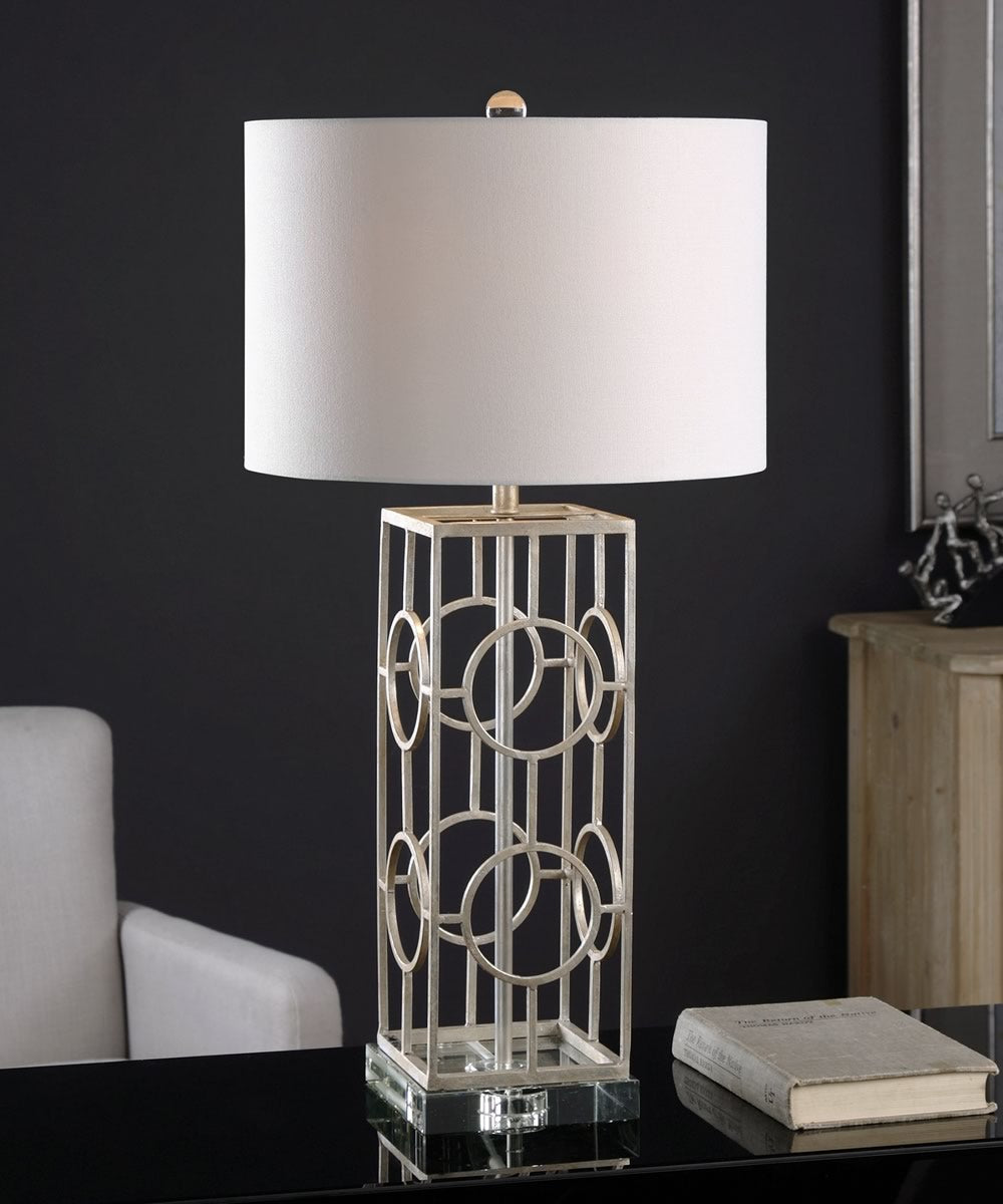 "30""H Mezen Silver Table Lamp"