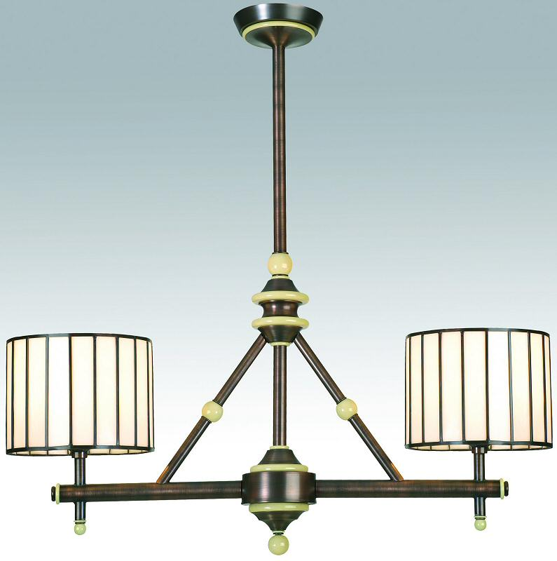"8""W Revolution 2-Light Island Pendant Mahogany Bronze"