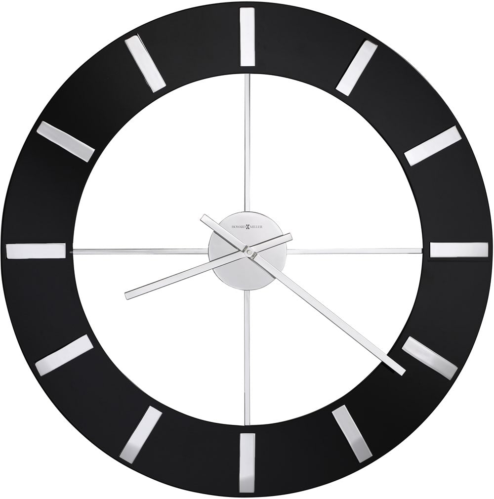 "30""h Onyx Wall Clock High Gloss Black"