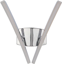 Aura 2-Light LED Wall Sconce Chrome