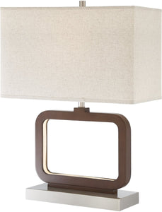 0-000210>Leonard 1-light Table Lamp Walnut