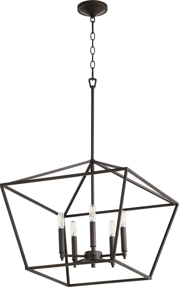 "21""W Gabriel 5-light Entry Foyer Hall Chandelier Oiled Bronze"