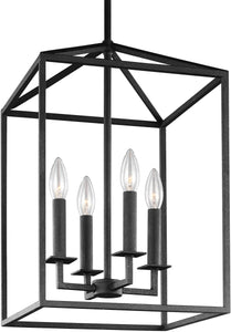 Perryton 4-Light Hall Foyer Pendant Blacksmith