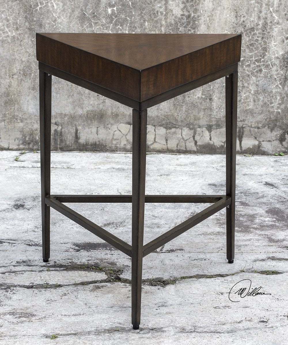 "26""H Ingo Triangle Accent Table"