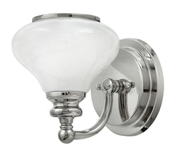 Ainsley 1-Light Bath Sconce in Polished Nickel