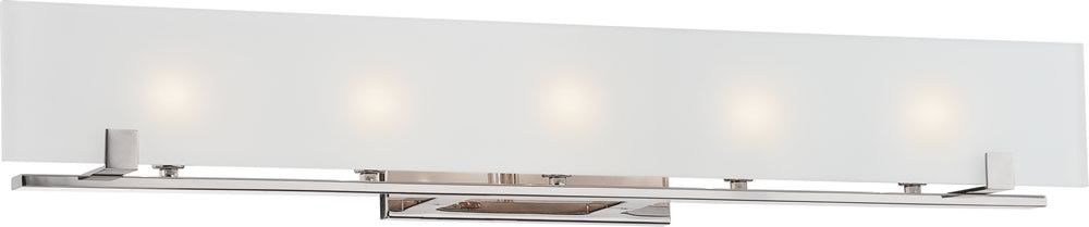 "36""W Lynne 5-Light Vanity & Wall Polished Nickel"