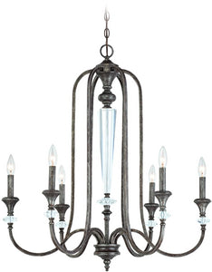 0-030691>Boulevard 6-Light Chandelier Mocha Bronze/Silver Accents
