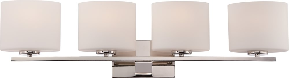 "33""W Breeze 4-Light Vanity & Wall Polished Nickel"