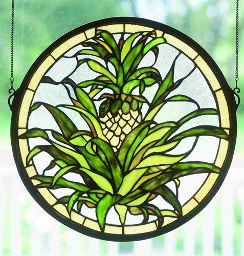 "16""H Welcome Pineapple Window"