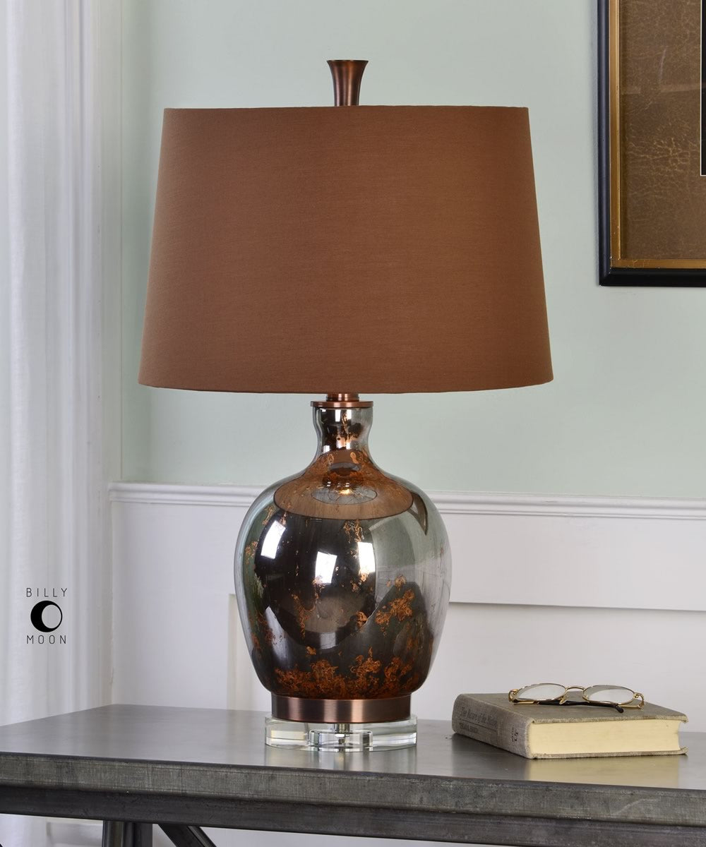 "26""H Lilas Mercury Glass Table Lamp"